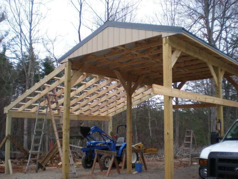 Carport garage door kit