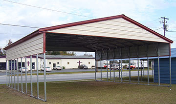 Wildcat barns car ports rent to own metal carports for Affordable furniture corbin ky