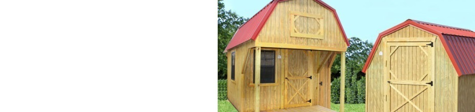 Wildcat Barns' RENT TO OWN Sheds, Log Cabins, Mini Barns